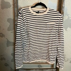 J.Crew striped sweater boyfriend fit M EUC